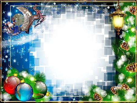 Новогодняя рамочка Ночь во приближение Рождества