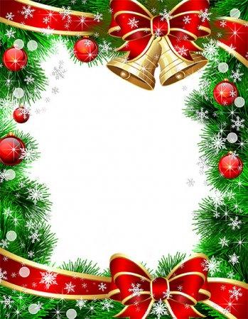 Новогодняя рамочка Мелодия Нового года
